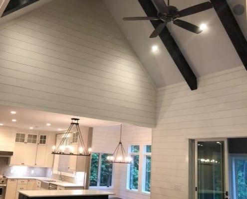 Open concept kitchen space